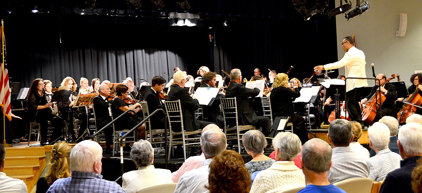 Maestro Robert Navarro Conducting The Treasure Coast Symphony Orchestra